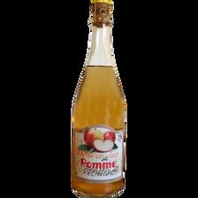 Pur jus de pomme pétillant, COVIFRUIT, bouteille de 75cl