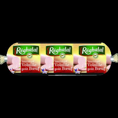Saucisson volaille boeuf nature halal REGHALAL, 230g
