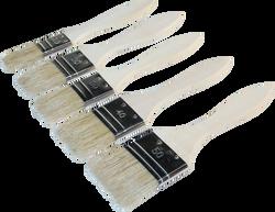 Brosse plate NESPOLI x5-comprenant n°20+n°30 x2+n°40+n°50-manches enbois-fibres en synthétique