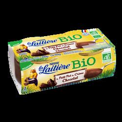Dessert lacté petit pot crème chocolat bio LA LAITIERE 2x100g