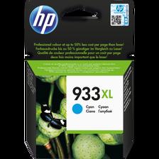 Cartouche d'encre HP pour imprimante, 933XL cyan, sous blister