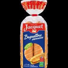 Baguettine viennoise nature JACQUET, 4 pièces, 340g