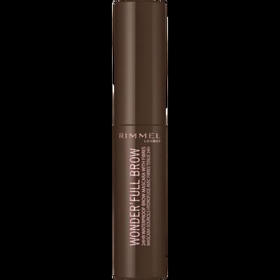 Mascara wonderfull 24hr brow 002 medium brown RIMMEL, blister