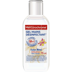 MERCUROCHROME GEL ANTIBACTERIEN HYDROALCOOLIQUE MONOÏ, flacon de 75 ml