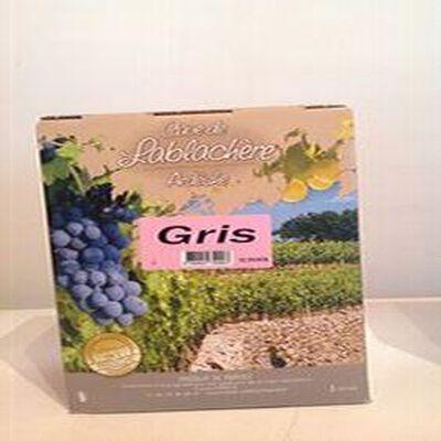 Vin rosé IGP coteaux de l'Ardèche GRIS Cave de Lablachère 3L