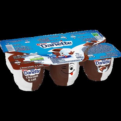 Dessert lacté au chocolat et au lait P'tite DANETTE , 6x70g