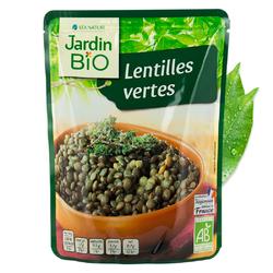 Lentilles vertes sachet express JARDIN BIO 250g