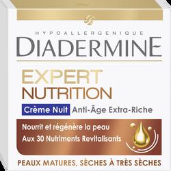 Crème expert rides 3D nutrition de nuit DIADERMINE, pot de 50ml