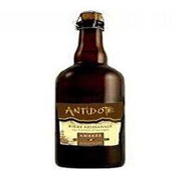Bière artisanale ambrée aux céréales d'Auvergne  antidote  75cl