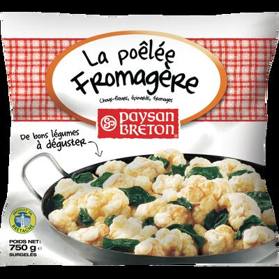 La poêlée fromagère aux choux-fleur épinards et fromage PAYSAN BRETON,sachet de 750g