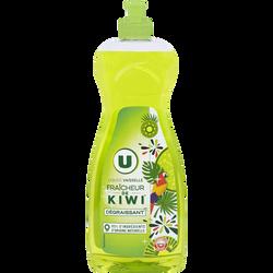 Liquide vaisselle fraîcheur de kiwi U, flacon de 750ml