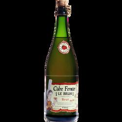 Cidre fermier brut LE BRUN 5,5° bouteille 37,5cl