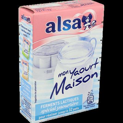 """Ferments lactiques pour yaourtière """"Mon Yaourt Maison"""" ALSA, 8g"""