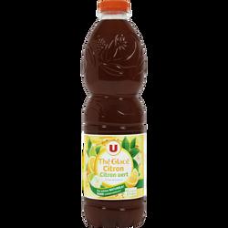 Boisson au thé glacé saveur citron citron vert U, bouteille de 1,5l