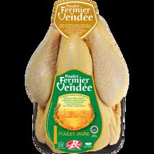 Poulet fermier jaune, LABEL ROUGE de Vendée, France, 1 pièce 1,4 kg