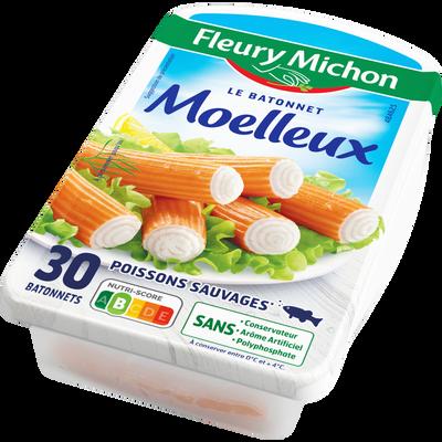 Surimi moelleux saveur crabe FLEURY MICHON, 30 bâtonnets soit 500g