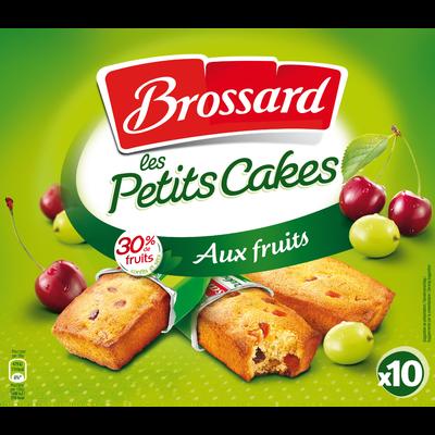Mini cakes aux fruits BROSSARD, 10 unités, 300g