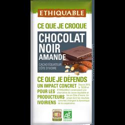Chocolat noir amande equateur/côte d'ivoire bio 100g