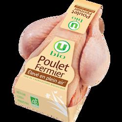 Poulet blanc fermier, U BIO, France, 1 pièce