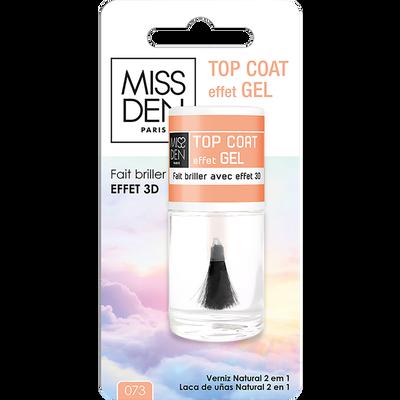 Vernis soin top coat effet gel 073, MISS DEN