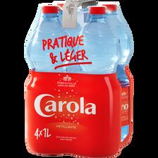 Eau de source pétillante Carola rouge 4 bouteilles de 1 litre