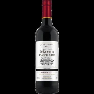 Bordeaux AOP rouge, CHATEAU MAYNE PARGADE, MRP,  bouteille de 75cl
