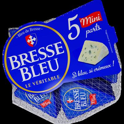 Fromage pasteurisé BRESSE BLEU, 31%MG, 5 unités de 30g