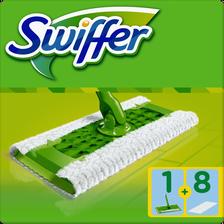 Kit balai complet déplié SWIFFER, 8 lingettes