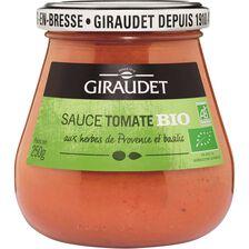 Sauce tomate bio GIRAUDET, bocal de 250g