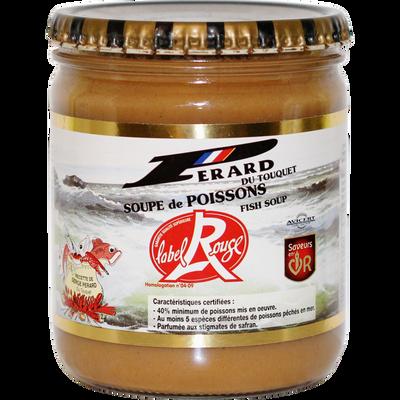 Soupe de poissons Label Rouge, transformée en France, pot de 446ml