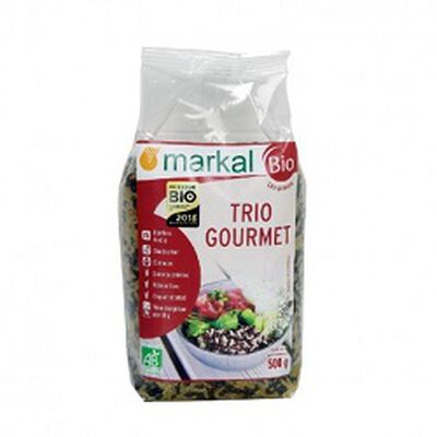Trio gourmet BIO, MARKAL, le paquet de 500g