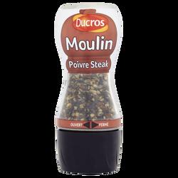 Moulin poivre pour steak DUCROS, moulin de 35g