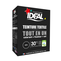 Teinture pour textile noir Tout en Un IDEAL, paquet de 350g