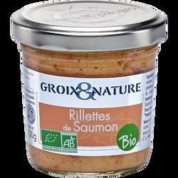 Rillettes aux noix de st jacques bio GROIX ET NATURE, 100g