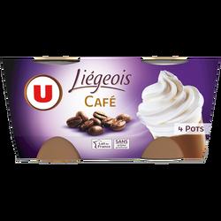 Dessert liégeois café et crème fouettée U 4x100g
