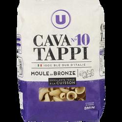 Pâtes italiennes cavatappi n°10 U, paquet de 500g