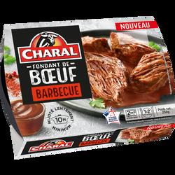 Fondant de boeuf barbecue, CHARAL, France, barquette, 250g