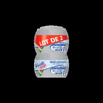 Dop Gel Coiffant Invisible Vivelle Dop, 2 Pots De 150ml