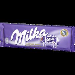 Chocolat au lait MILKA, tablette de 270g