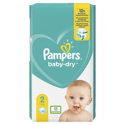 Couches baby dry langes géant taille 2 PAMPERS x60