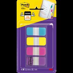Mini marque-pages POST-IT, 40 feuilles, couleurs vives