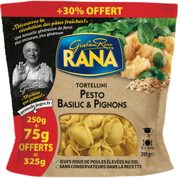 Tortellini pesto basilic et pignons RANA, 250g + 30% offert