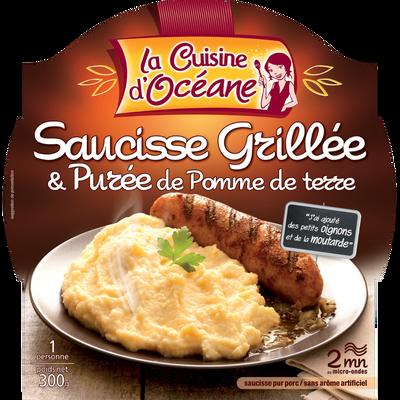 Saucisse grillée et purée de pomme de terre LA CUISINE D'OCEANE, 300g