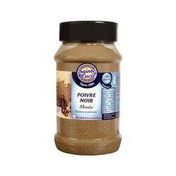 poivre noir moulu, SAINTE LUCIE, pot de 250g.