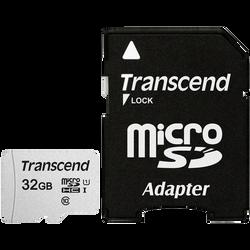 CARTE MEMOIRE MICRO SECURE DIGITAL TRANSCEND 32GO+ADAPTATEUR