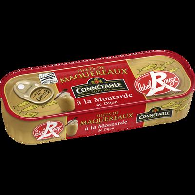 Filets de maquereaux à la moutarde de Dijon label rouge CONNETABLE, 1/4 169g