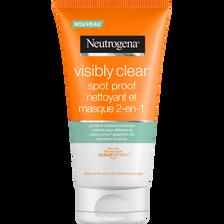 Nettoyant visage et masque 2 en 1 spot proof visibly clear NEUTROGENA,tube 150ml