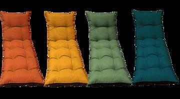 Soleil Bain De Soleil Flocon Bi Colors Uni En Polyester/coton 95g/m² 180x56x10cm Garnissage Flocon De Mousse Coloriassorti:curcuma, Parprika, Bleugreystoke Et Lichen