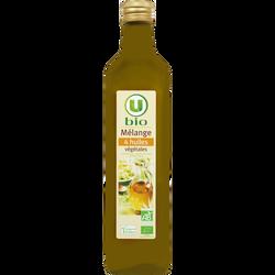 Mélange 4 huiles végétales U BIO, bouteille de 75cl