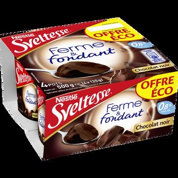 Nestlé Spécialité Laitière Chocolat Noir Ferme Et Fondant Chocolat Sveltesse,4x125g